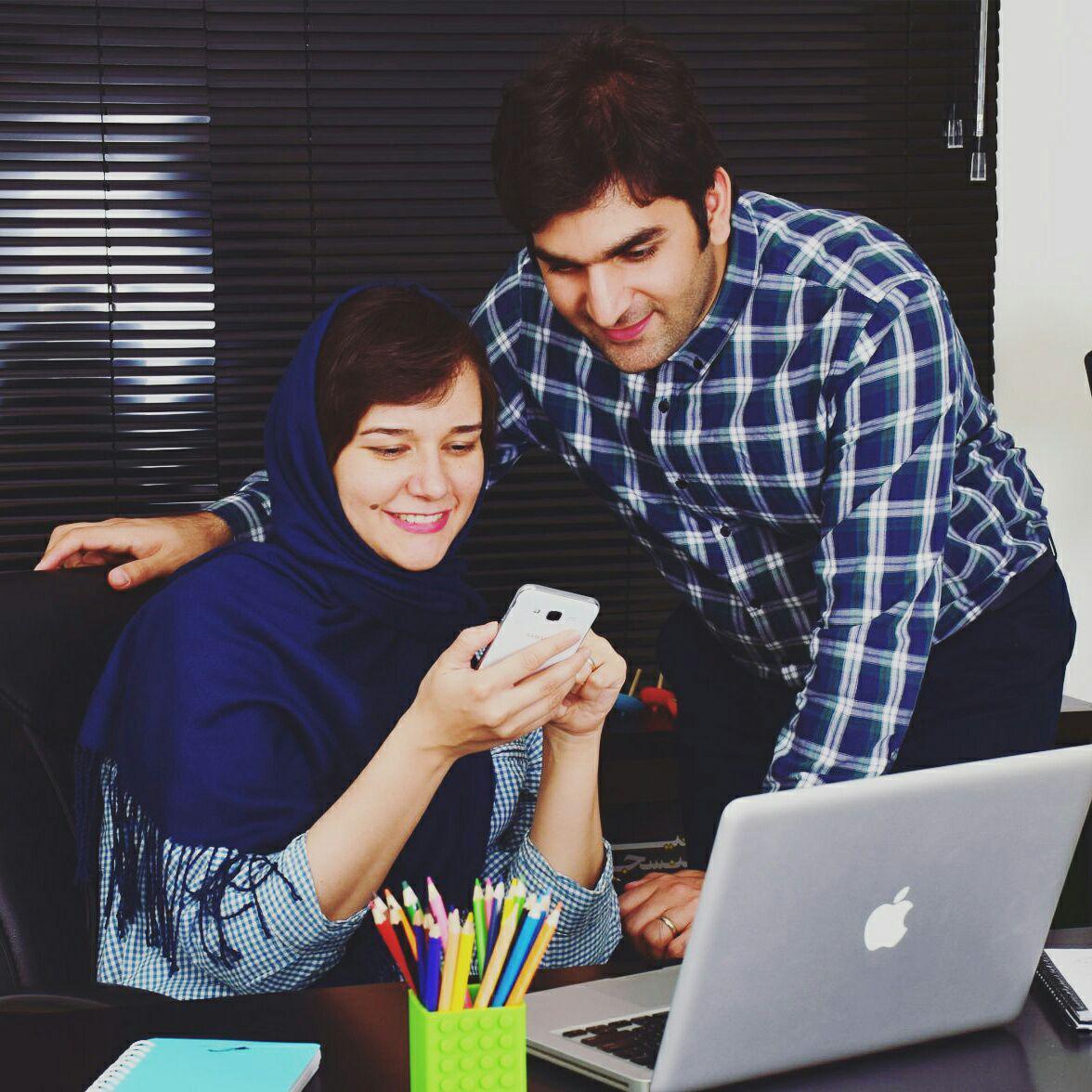 مسعود گروسیان و ساره موسوی